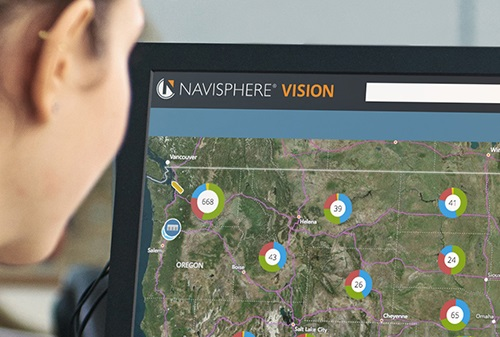 computer screen with Navisphere Vision